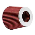 K&N,Universal,Air,Filter,Chrome,Round,Tapered,Red,4in,Flange,ID,x,1.125in,Flange,Length,x,5.5in,H