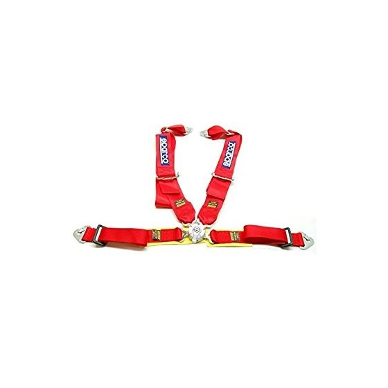 04715MRS, SPARCO, 4PT, P-2, STEEL, RED, 4, point, harness, competition