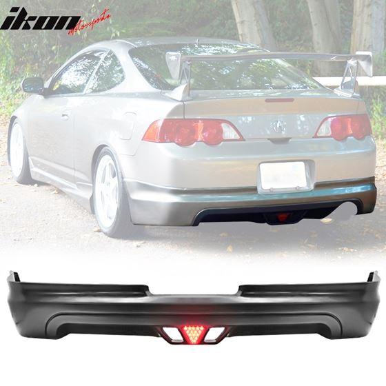 02-04,Acura,RSX,Mugen,Style,Rear,Lip,Diffuser,LED,Brake,Light