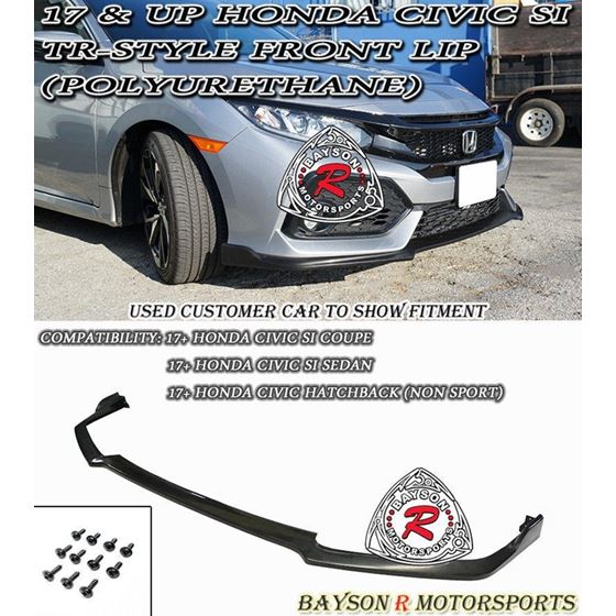 2017 - 2020 ,Honda ,Civic ,Hatchback , Si, Type-R, Style, Front Lip,racing bee,bayson r