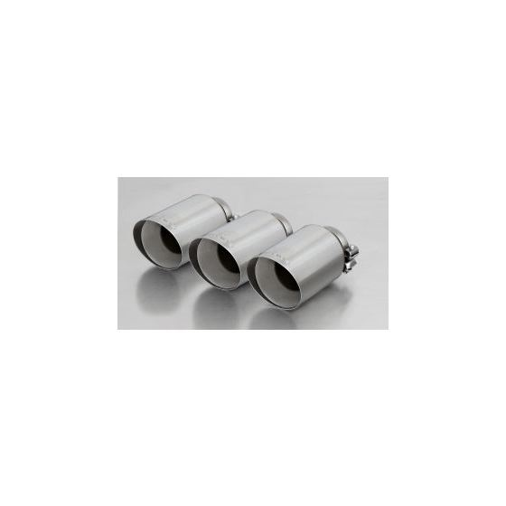 REMUS tail pipe set 3 tail pipes 102 mm angled, straight cut, chromed
