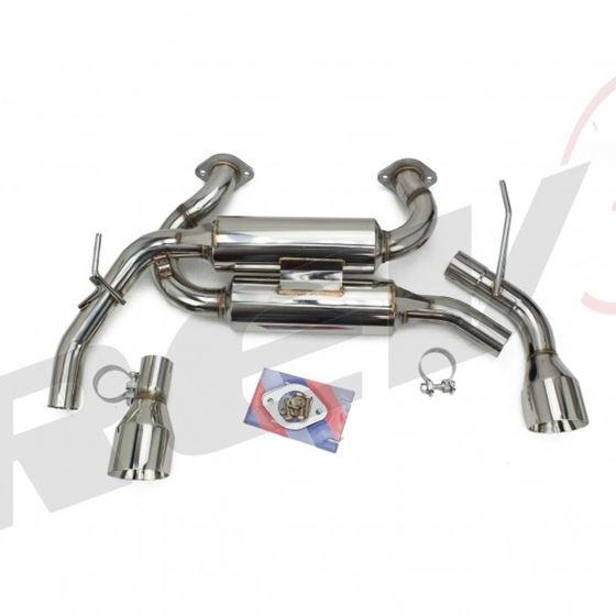 Infiniti Q50 2014-18 FlowMaxx Stainless Axle-Back Exhaust System, 60mm Pipe