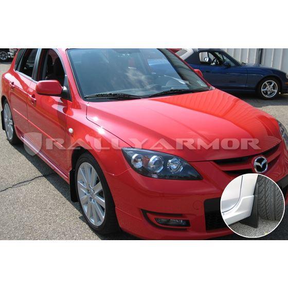 Rally, Armor, 2004, 2009, Mazda, 3, Speed3, Basic, Black, Mud, Flap, Black, Logo