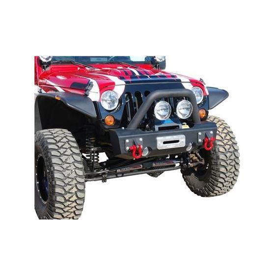 MBRP 07-18 Jeep Wrangler JK Front Stubby Winch Bumper Package