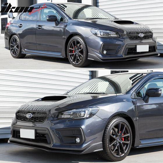 18-21,Subaru,WRX,STI,S207,Style,Front,Bumper,Lip,Spoiler,Unpainted,PU