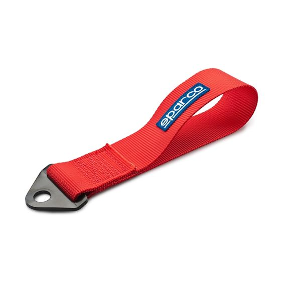 SPARCO,TOW,STRAP,FIA,RED