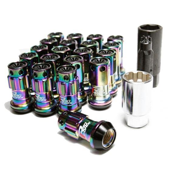 Project, Kics, 16+4, Locks, Neochrome, R40, Iconix, w/, Plastic, Cap, Black, 12x1.50