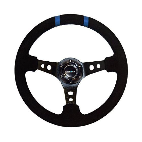 """350MM Sport Steering Wheel(3"""" Deep) - Black Suede"""
